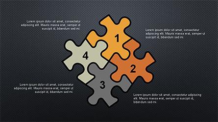 Numbered Shapes Slide Deck, Slide 12, 04356, Shapes — PoweredTemplate.com
