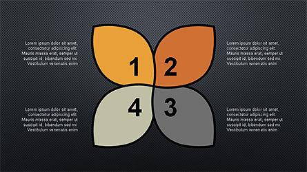 Numbered Shapes Slide Deck, Slide 14, 04356, Shapes — PoweredTemplate.com