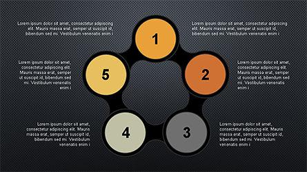 Numbered Shapes Slide Deck, Slide 16, 04356, Shapes — PoweredTemplate.com