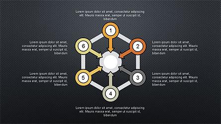 Numbered Shapes Slide Deck, Slide 9, 04356, Shapes — PoweredTemplate.com