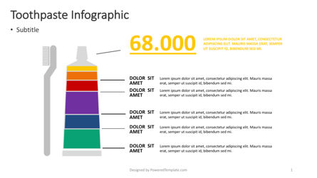 Infographics: Toothpaste Infographic #04369