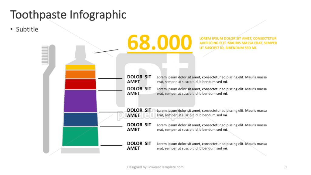 Tandpasta infographic, 04369, Infographics — PoweredTemplate.com