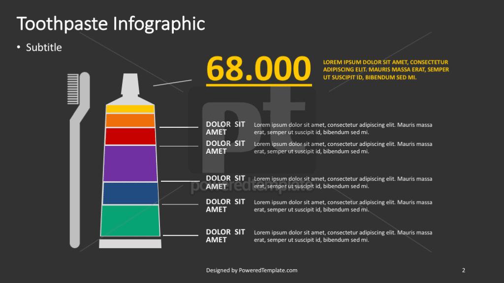 Tandpasta infographic, Dia 2, 04369, Infographics — PoweredTemplate.com