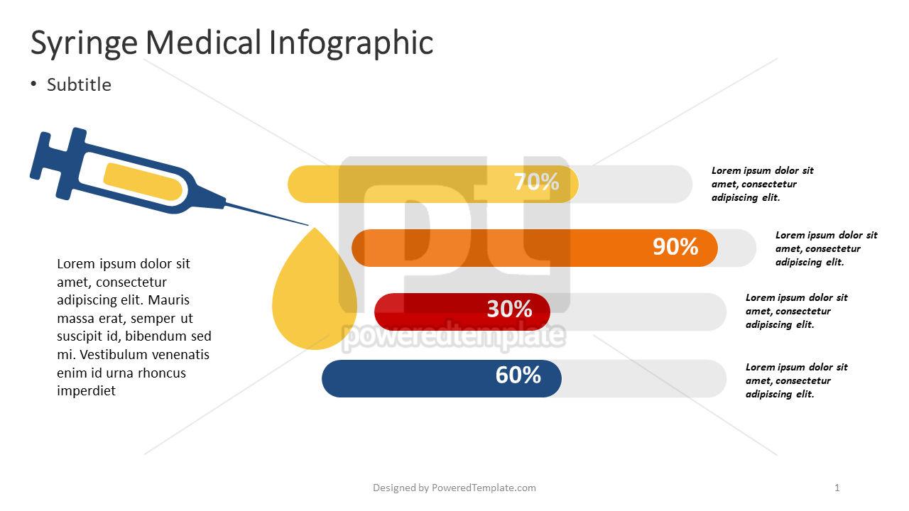 Infografía médica jeringa, 04373, Infografías — PoweredTemplate.com