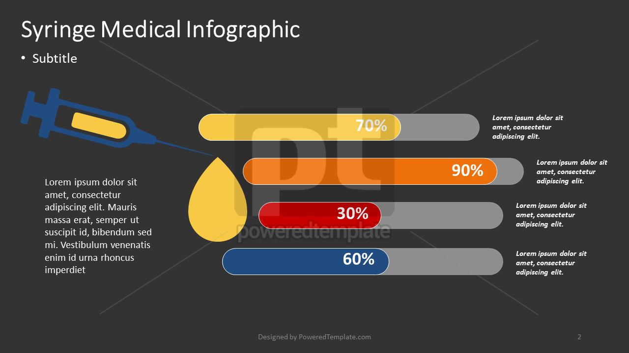Infografía médica jeringa, Diapositiva 2, 04373, Infografías — PoweredTemplate.com