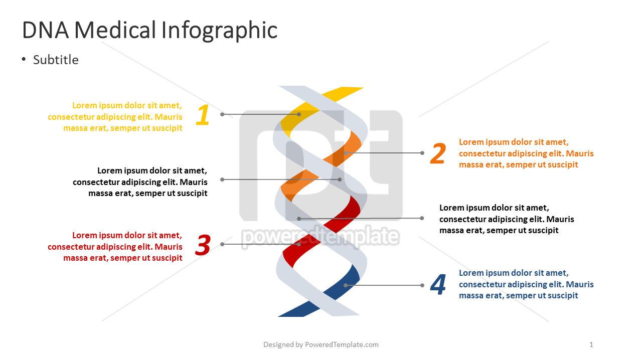 DNA Medical Infographic, 04374, Infographics — PoweredTemplate.com