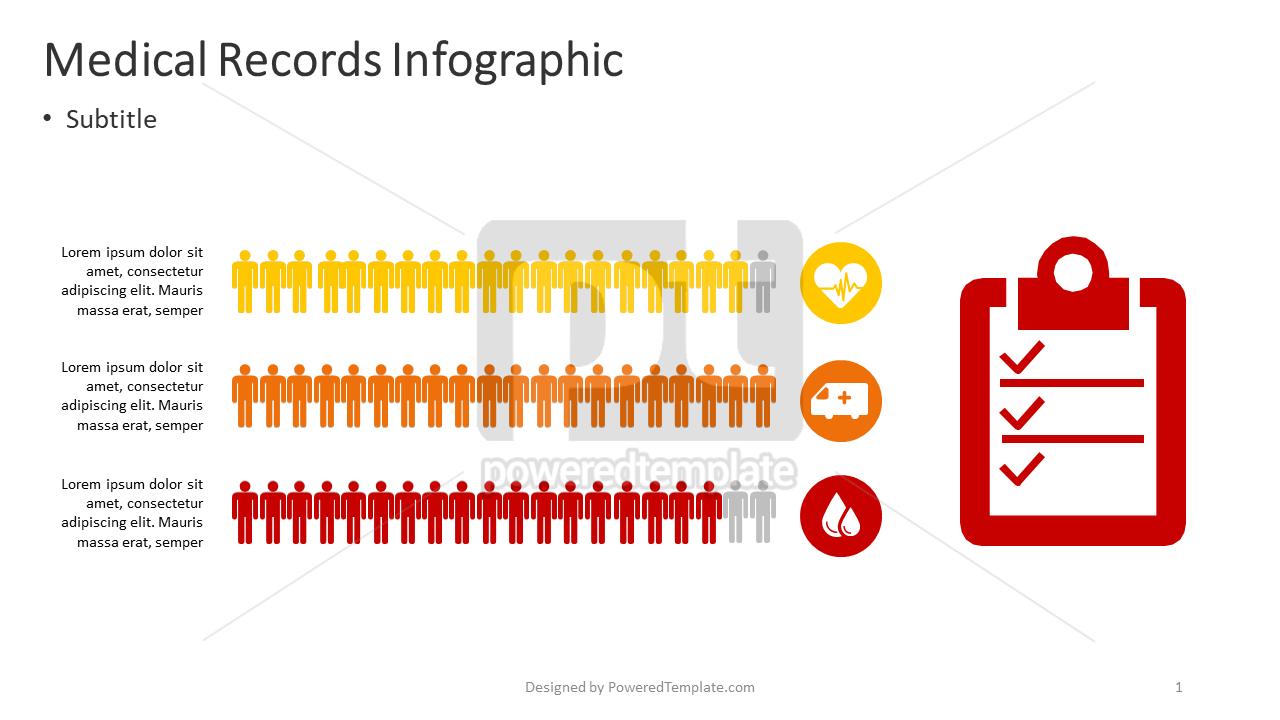 Medical Records Infographic, 04375, Infographics — PoweredTemplate.com