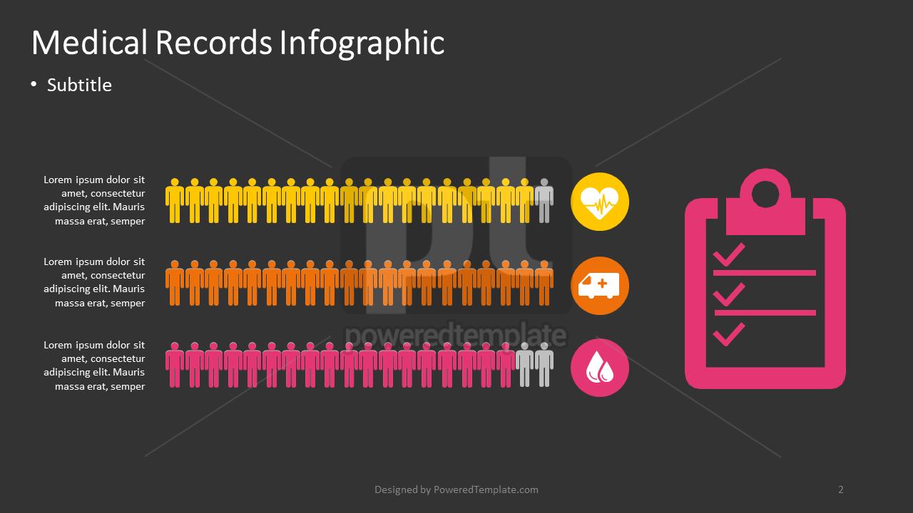 Medical Records Infographic, Slide 2, 04375, Infographics — PoweredTemplate.com