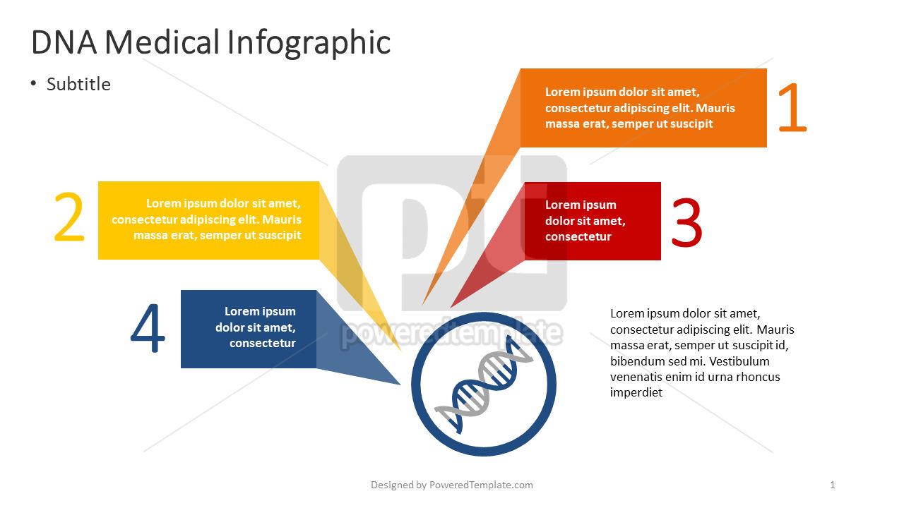 DNA Medical Infographics, 04377, Infographics — PoweredTemplate.com