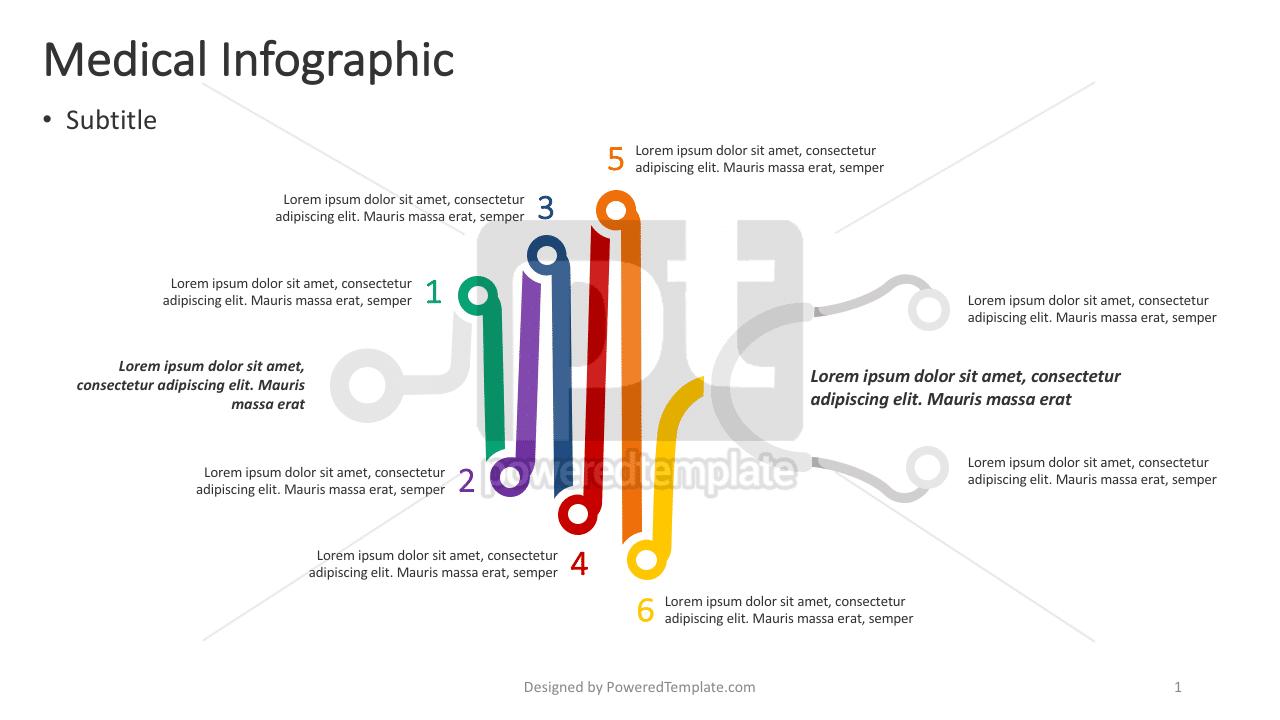 Stethoscope Medical Infographic, 04380, Infographics — PoweredTemplate.com