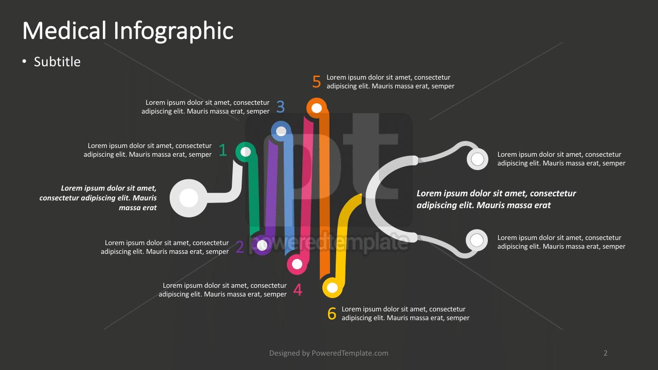 Stethoscope Medical Infographic, Slide 2, 04380, Infographics — PoweredTemplate.com