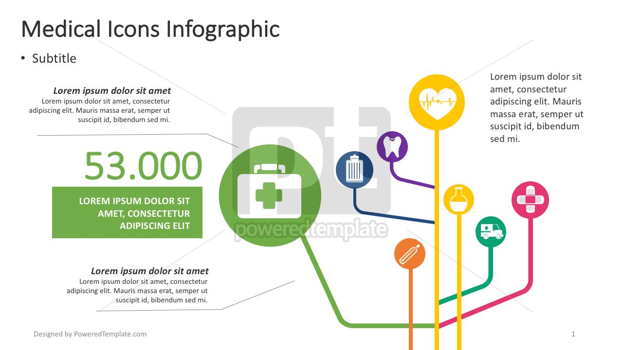 Infográfico de ícones de saúde, 04382, Infográficos — PoweredTemplate.com
