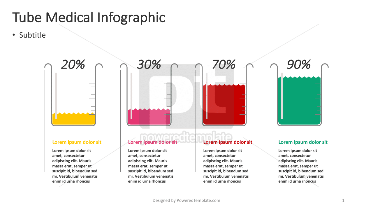 Infografis Medis Tabung, 04385, Infografis — PoweredTemplate.com