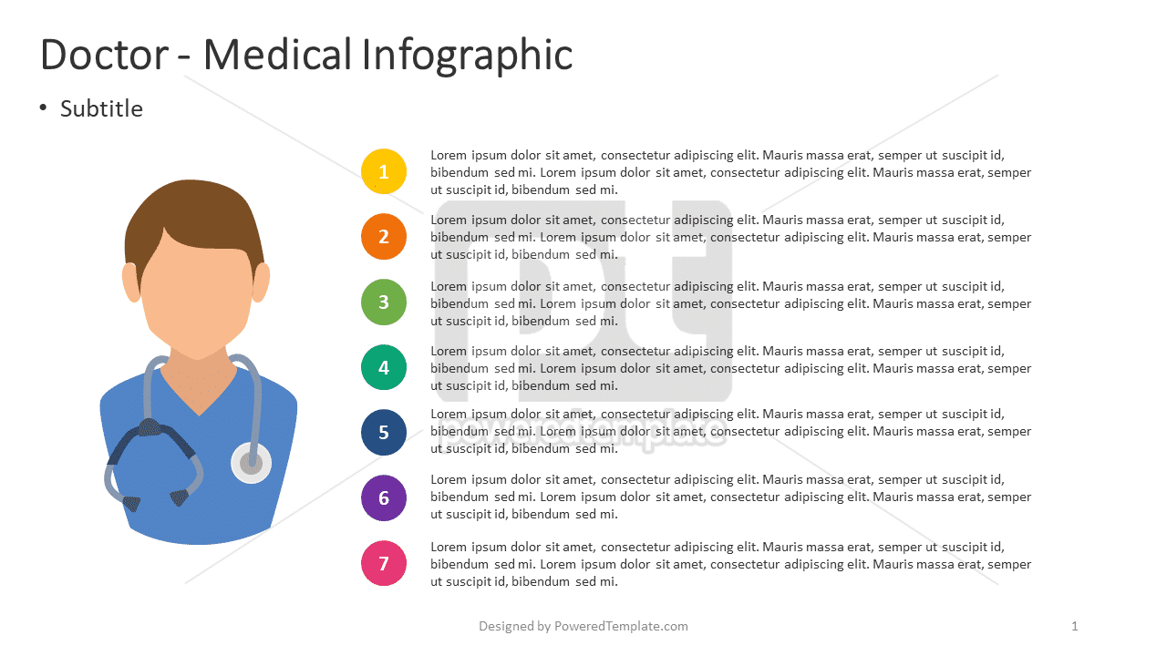 Doctor - Medical Infographic, 04387, Infographics — PoweredTemplate.com