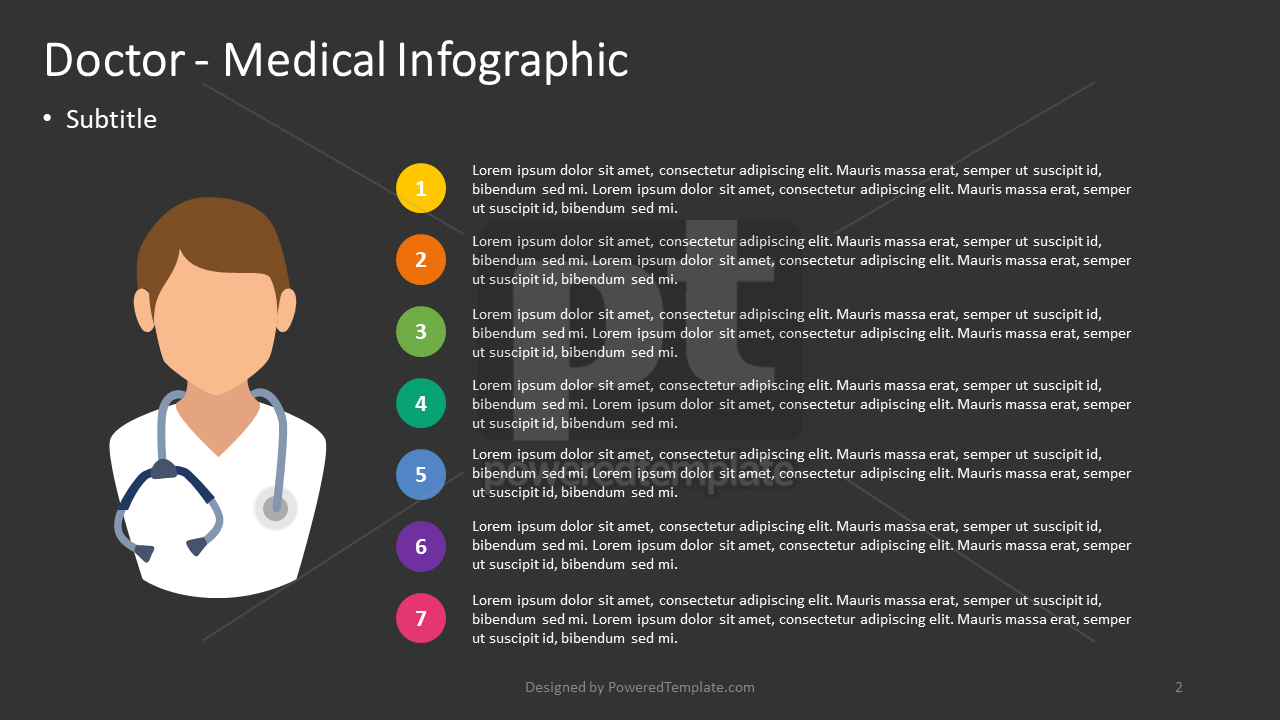 Doctor - Medical Infographic, Slide 2, 04387, Infographics — PoweredTemplate.com