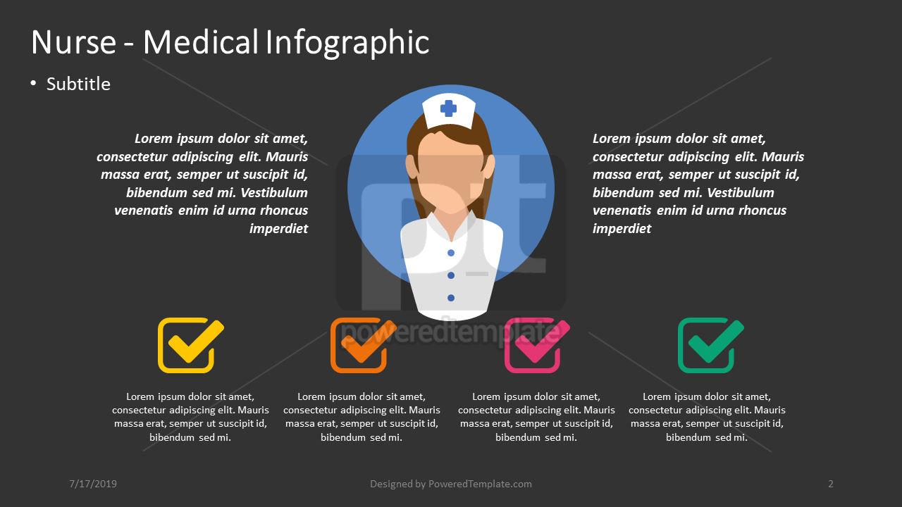 Nurse - Medical Infographic, Slide 2, 04393, Infographics — PoweredTemplate.com