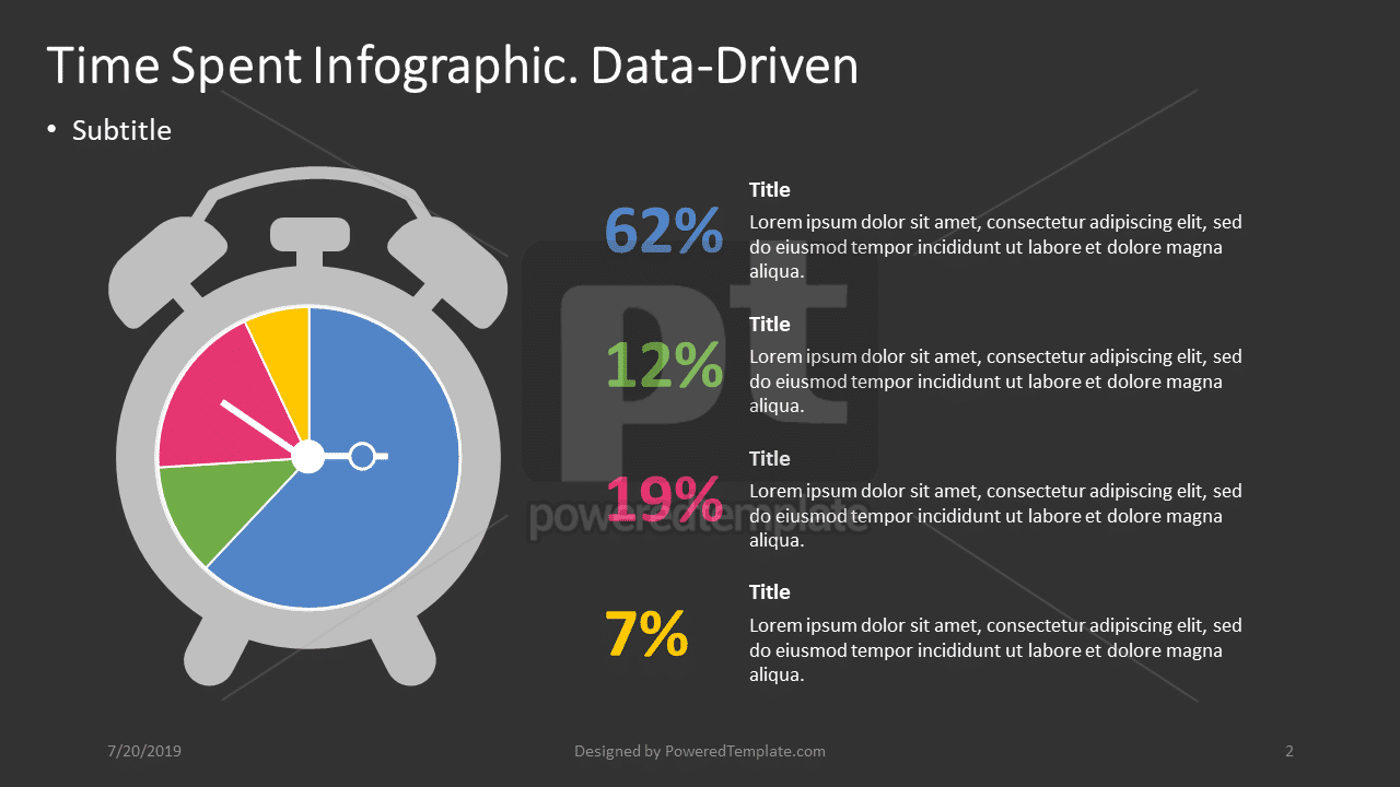 Time Spent Infographic - Data-Driven, Slide 2, 04397, Data Driven Diagrams and Charts — PoweredTemplate.com