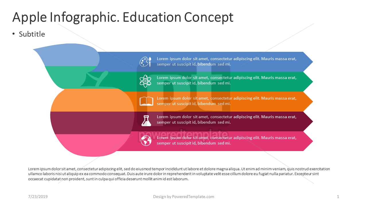 Apple Infographic Education Concept, 04400, Education Charts and Diagrams — PoweredTemplate.com