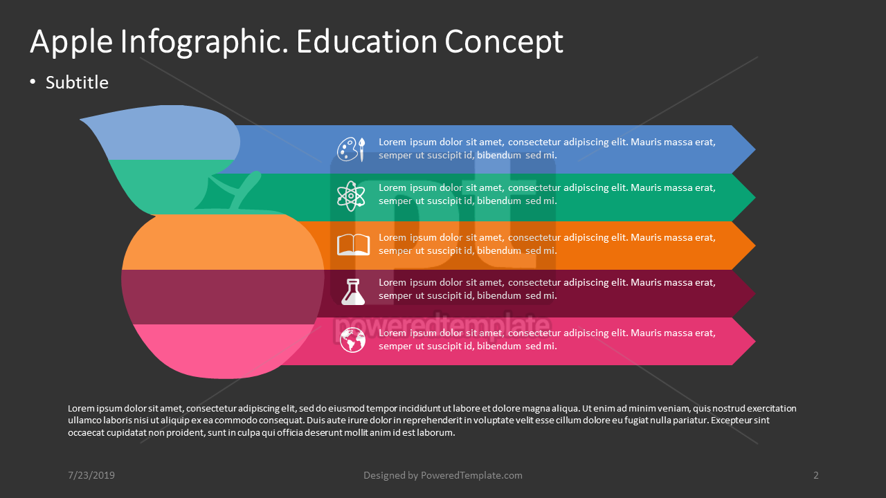 Apple Infographic Education Concept, Slide 2, 04400, Education Charts and Diagrams — PoweredTemplate.com