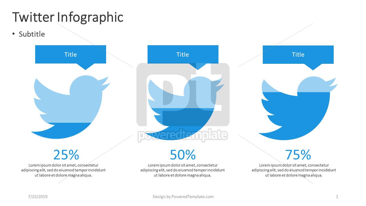 Twitter Infographic, 04401, Infographics — PoweredTemplate.com