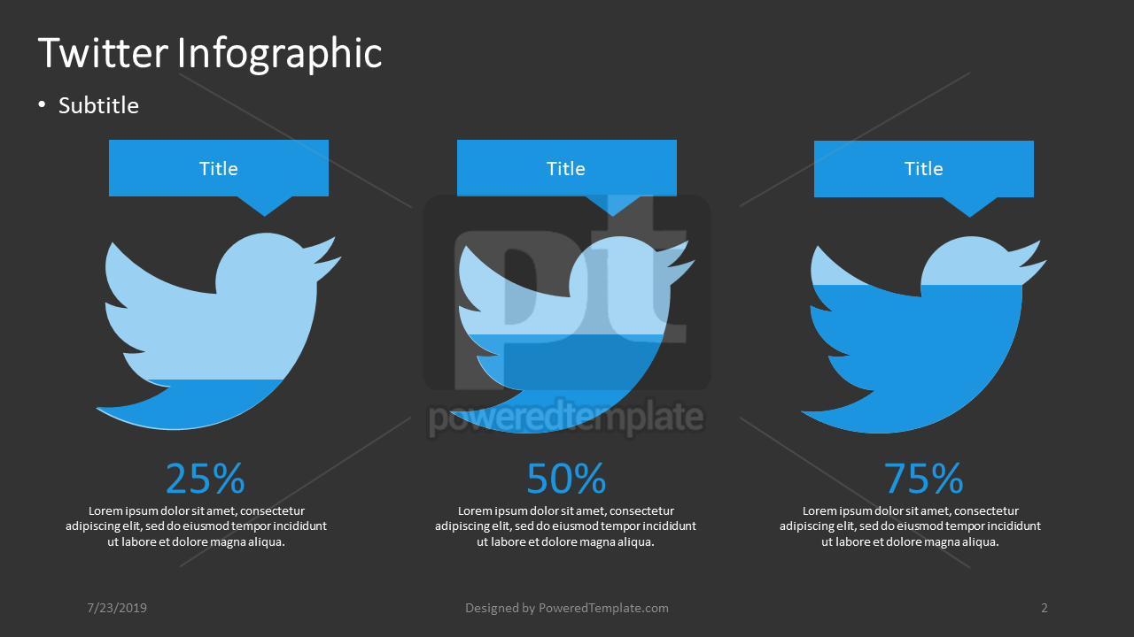 Twitter Infographic, Slide 2, 04401, Infographics — PoweredTemplate.com