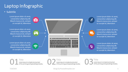 Infographics: Laptop infographic #04403