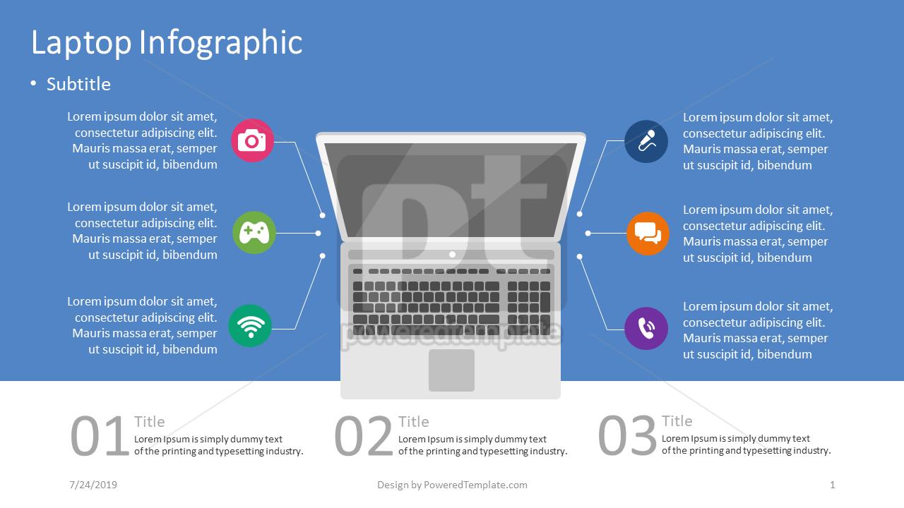 Infográfico de laptop, 04403, Infográficos — PoweredTemplate.com