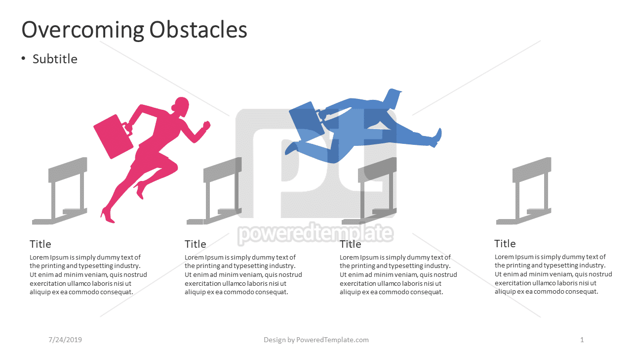 Overcoming Obstacles, 04404, Infographics — PoweredTemplate.com