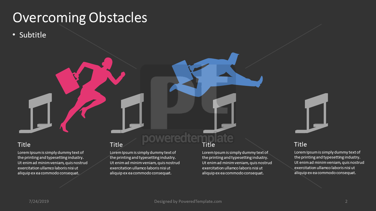 Overcoming Obstacles, Slide 2, 04404, Infographics — PoweredTemplate.com