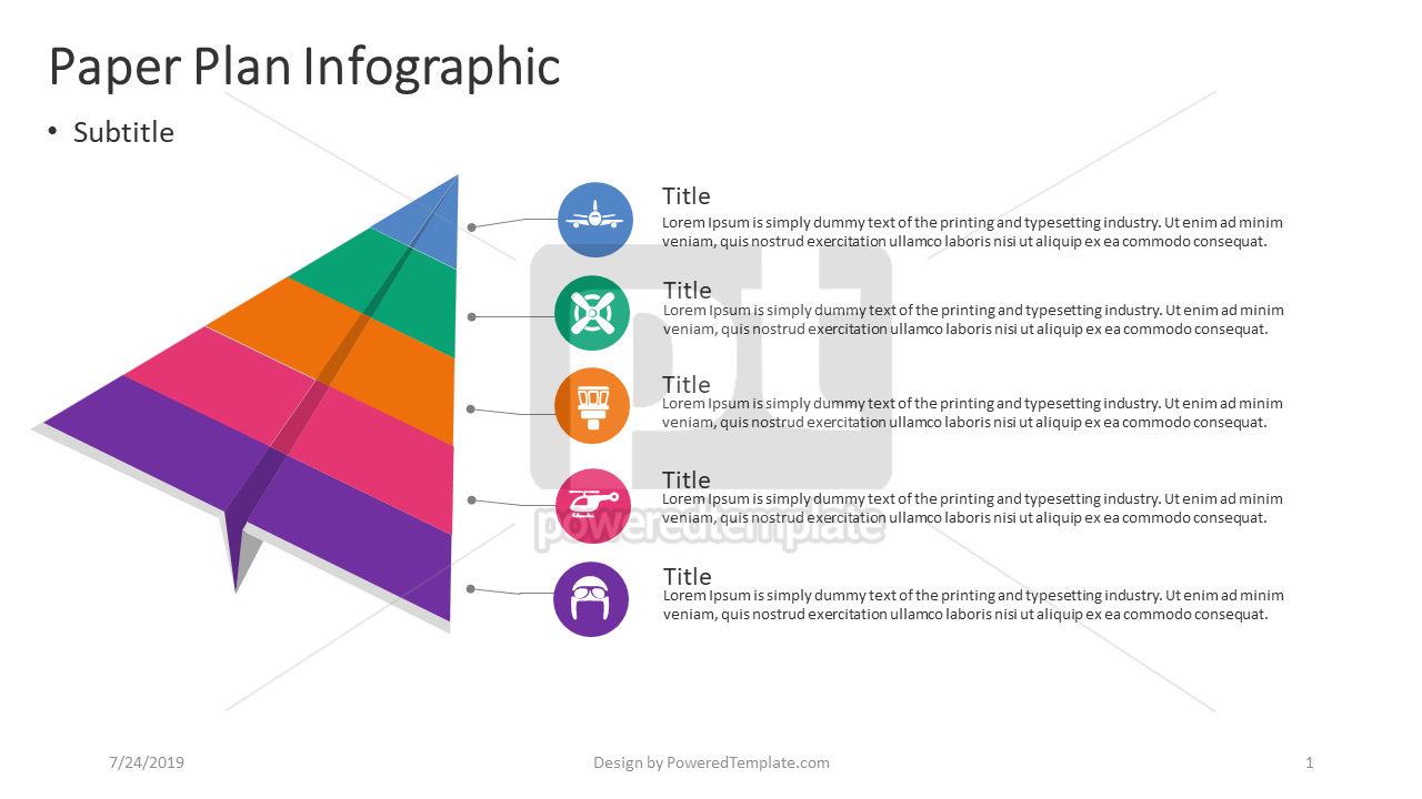 Infografica aereo di carta, 04405, Infografiche — PoweredTemplate.com