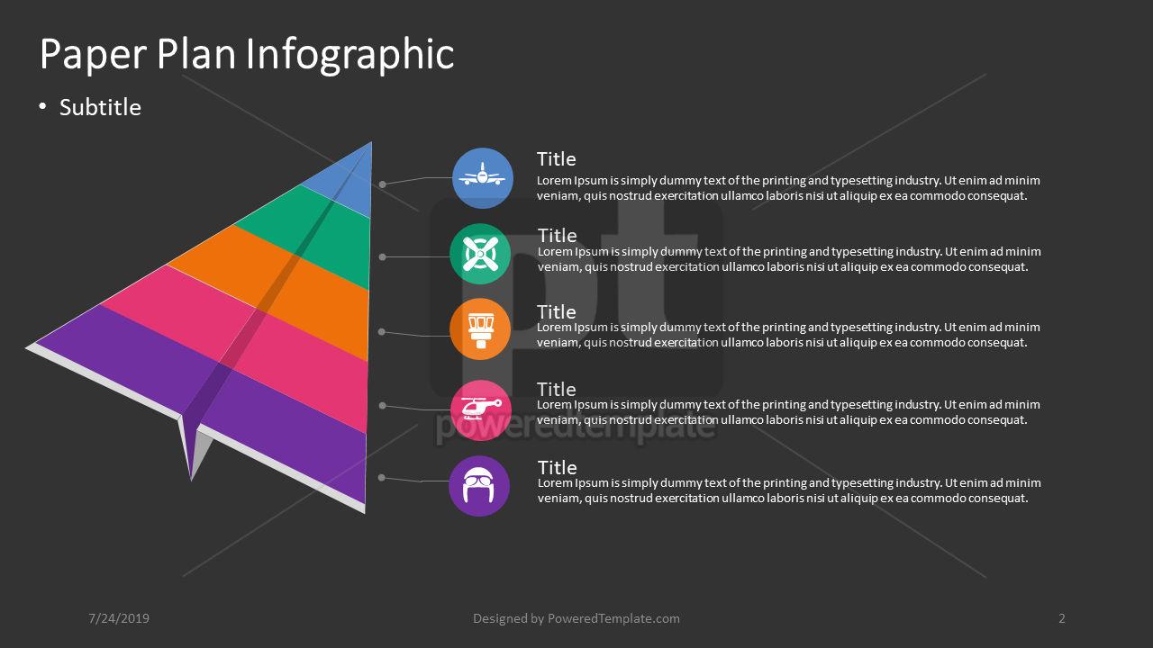 Infografica aereo di carta, Slide 2, 04405, Infografiche — PoweredTemplate.com