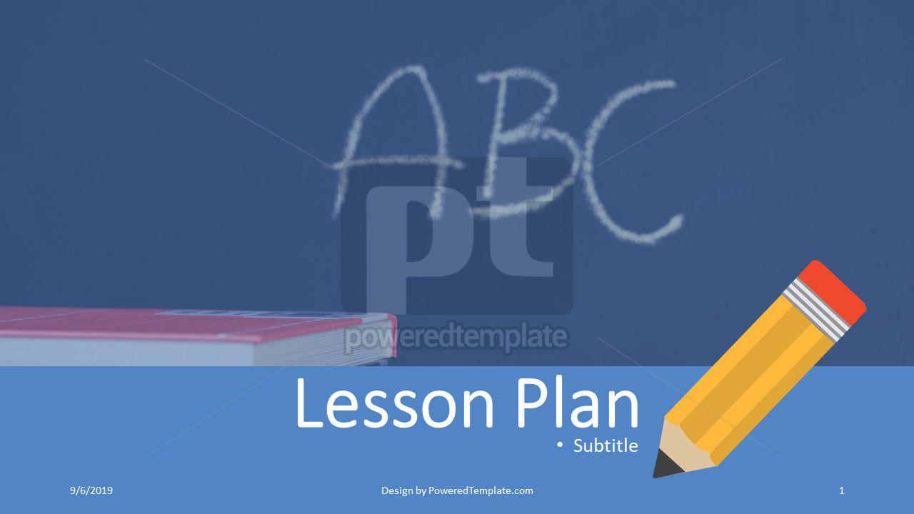 课程计划, 04414, 教育图和图表 — PoweredTemplate.com