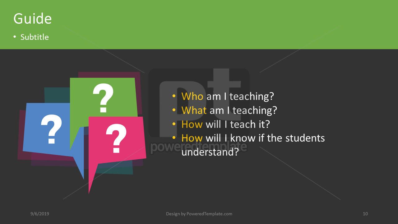 课程计划, 幻灯片 10, 04414, 教育图和图表 — PoweredTemplate.com