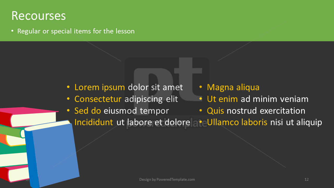 课程计划, 幻灯片 12, 04414, 教育图和图表 — PoweredTemplate.com