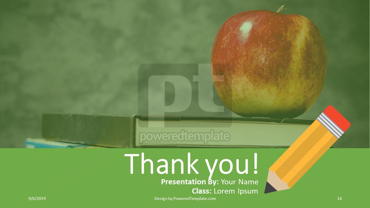 课程计划, 幻灯片 16, 04414, 教育图和图表 — PoweredTemplate.com