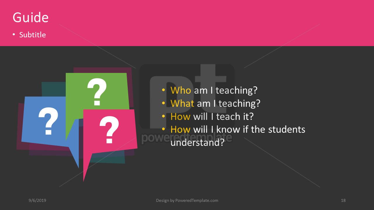 课程计划, 幻灯片 18, 04414, 教育图和图表 — PoweredTemplate.com