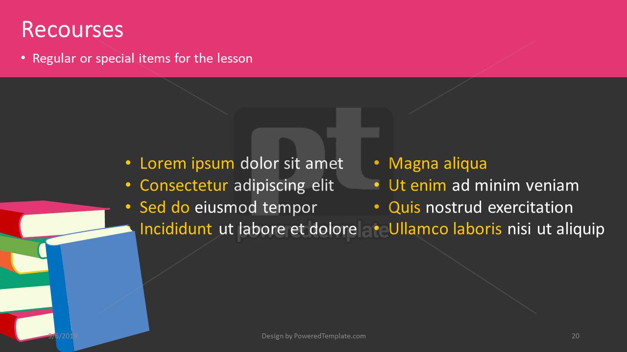 课程计划, 幻灯片 20, 04414, 教育图和图表 — PoweredTemplate.com