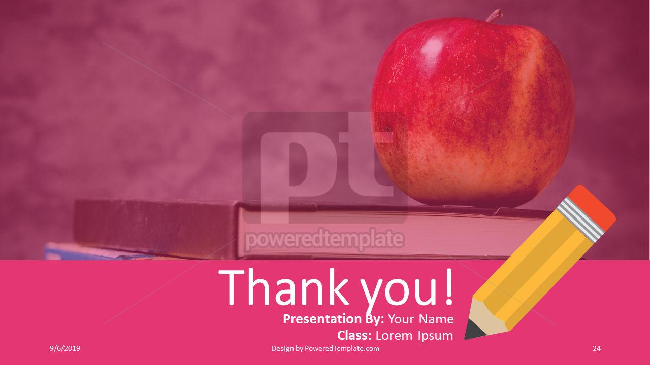 课程计划, 幻灯片 24, 04414, 教育图和图表 — PoweredTemplate.com