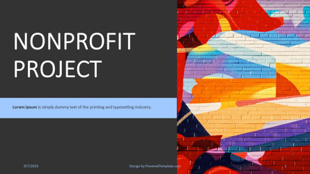 Presentation Templates: Nonprofit Art Project #04417
