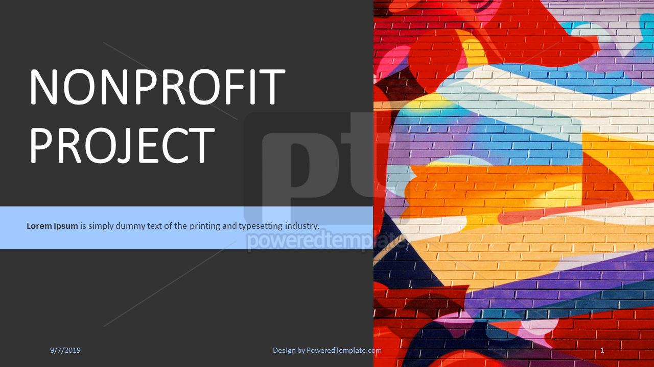 Nonprofit Art Project, 04417, Presentation Templates — PoweredTemplate.com