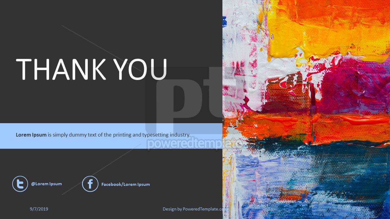 Nonprofit Art Project, Slide 10, 04417, Presentation Templates — PoweredTemplate.com