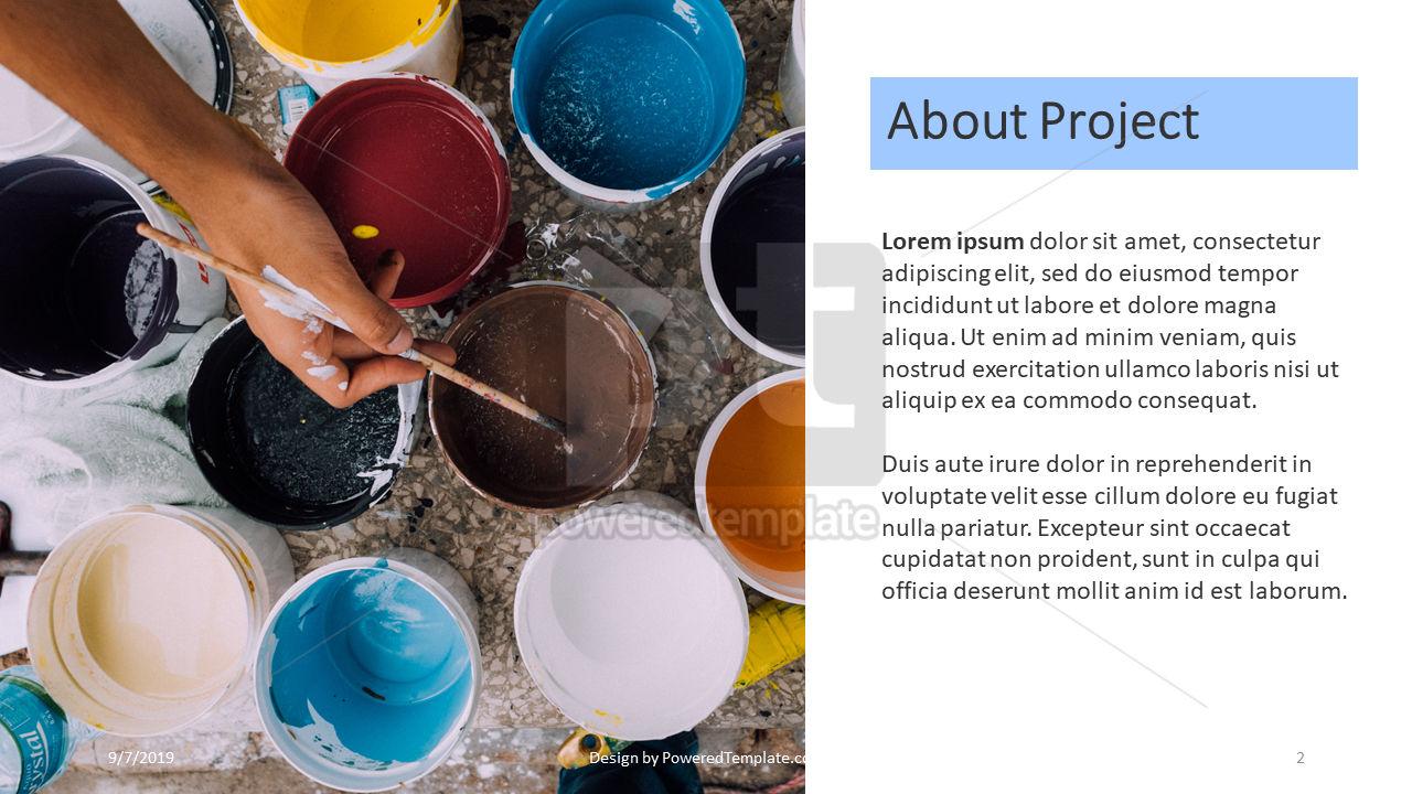 Nonprofit Art Project, Slide 2, 04417, Presentation Templates — PoweredTemplate.com