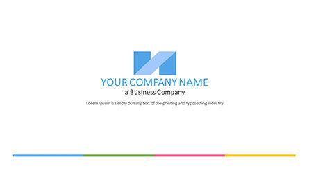 Presentation Templates: Duidelijke stijl bedrijf powerpoint-sjabloon #04418