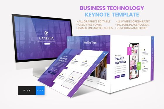 Business Models: Business - Technology Keynote Template #04420