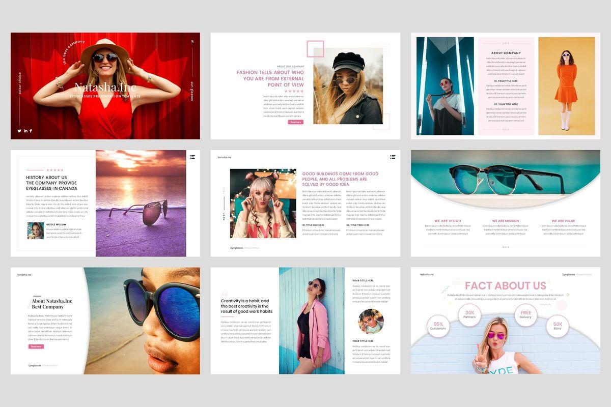 Fashion - Eyeglasses Google Slide Template, Slide 2, 04424, Business Models — PoweredTemplate.com