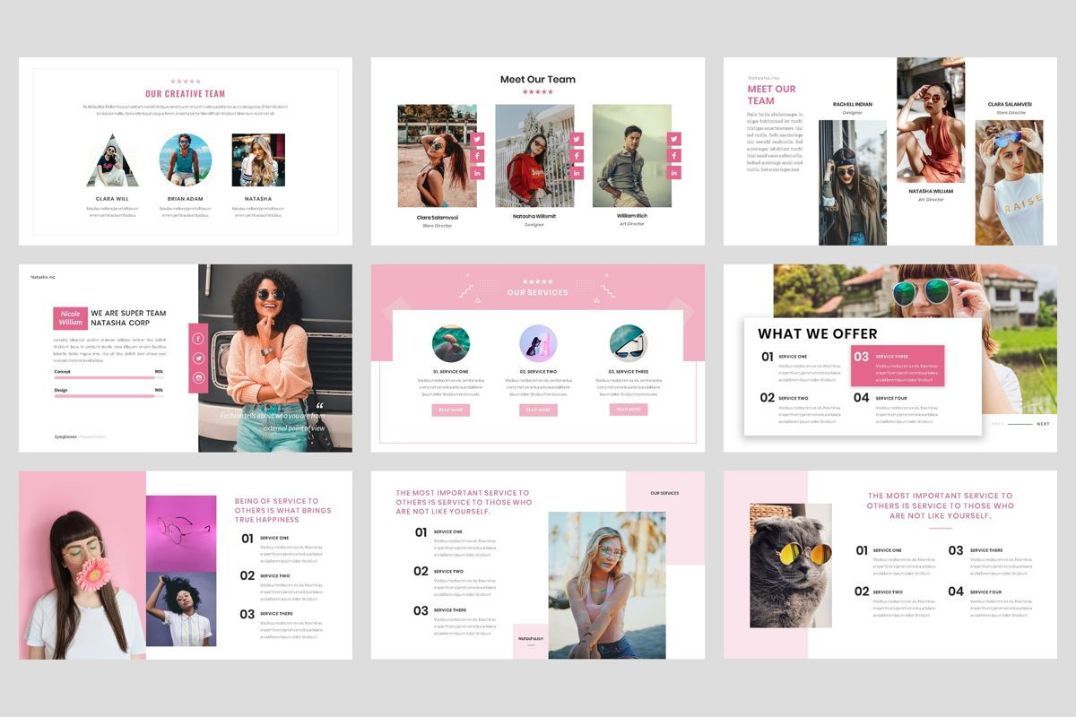 Fashion - Eyeglasses Google Slide Template, Slide 3, 04424, Business Models — PoweredTemplate.com