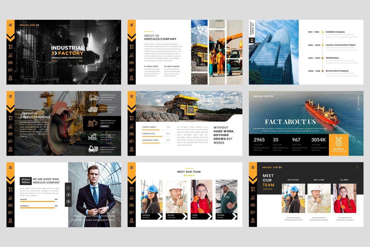 Industrial - Factory PowerPoint Template, Slide 2, 04425, Business Models — PoweredTemplate.com