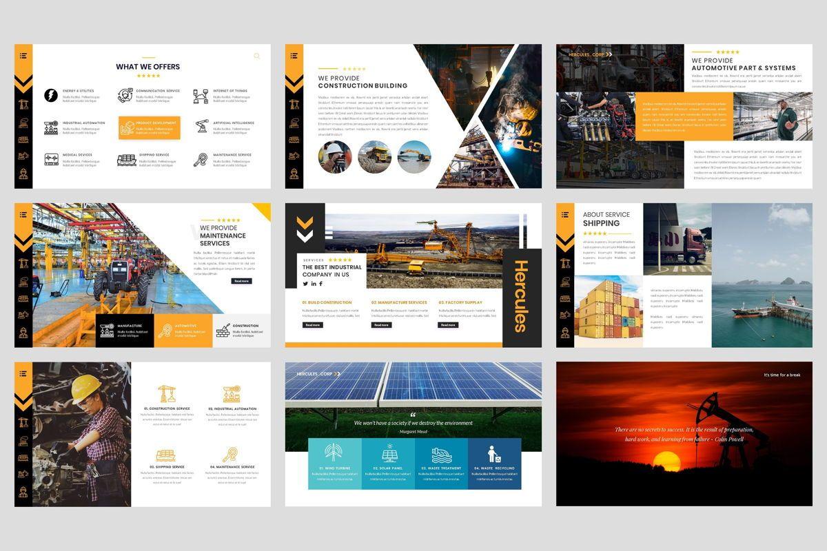 Industrial - Factory PowerPoint Template, Slide 3, 04425, Business Models — PoweredTemplate.com