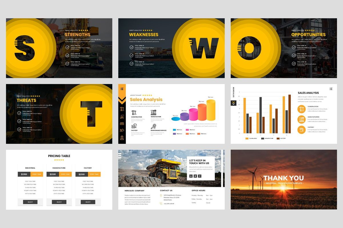 Industrial - Factory PowerPoint Template, Slide 5, 04425, Business Models — PoweredTemplate.com