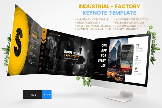 Business Models: Industrial - Factory Keynote Template #04426